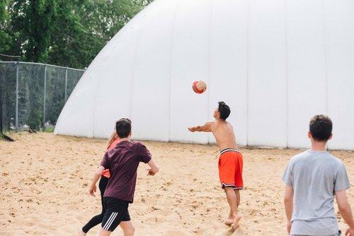 夏令營活動沙灘排球
