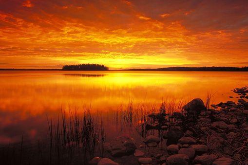 加拿大落磯山夕陽